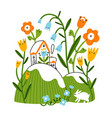 easter mood floral spring vector image vector image