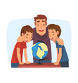 father teaching his sons parent helping sons and vector image vector image