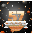 Fifty seven years anniversary celebration vector image vector image