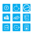 financial banking blue icon design vector image vector image