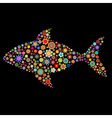 fish shape vector image vector image