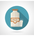 Flat color icon for dairy vector image vector image