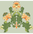 floral antique vector image vector image