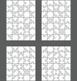 four different white puzzles vector image