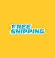 free shipping icon vector image vector image