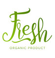 fresh food sigh healthy life eco stamp vector image