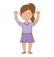 girl avatar cartoon character vector image vector image