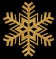 gold glittering christmas snowflake vector image vector image
