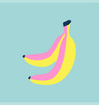 hand draw banana in sketch style beach holiday vector image