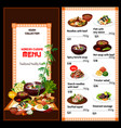 korean cuisine meat fish and soup dishes vector image vector image
