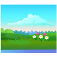 landscape with coniferous forest on horizon vector image vector image