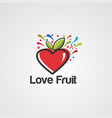 love fruit logo icon element and template vector image vector image