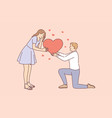 love romance and dating concept vector image