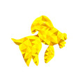 low poly gold fish vector image vector image