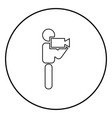 man with video camera stick icon black color in vector image vector image