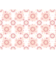 Maroon flowers on pink curved forms vector image vector image
