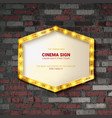 marquee light gold board sign vector image vector image