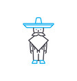 mexican national clothes linear icon concept vector image vector image