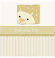 new baby shower card with cat vector image vector image