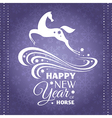 New year greeting card with horse vector image vector image