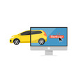 online pre ordering car concept vector image