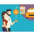 Ordering taxi vector image vector image