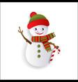 paper cut snowman christmas decoration element vector image vector image