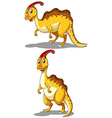 Parasaurolophus in two different poses vector image vector image