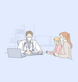 patient examination medicine coronavirus vector image