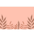 pink leaf background vector image