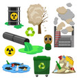 pollution infographic elements concept 3d icon set vector image