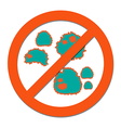 Prohibition sign for stop Zika virus vector image