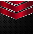 Red and black metallic background vector image vector image