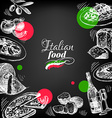Restaurant chalkboard Italian cuisine menu design vector image vector image