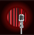 retro microphone against the background vector image