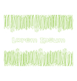 Scribble green lines for copy text vector image