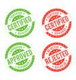 seal certificate vector image vector image