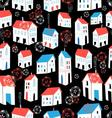 Seamless graphic pattern with different houses vector image