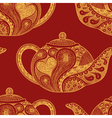 Seamless pattern made of patterned teapots vector image vector image