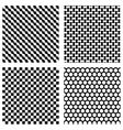 Set of black geometric patterns vector image vector image
