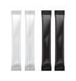 set of blank foil bag packaging for food sugar vector image vector image