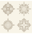 Set of four mandalas Beautiful hand drawn flowers vector image vector image