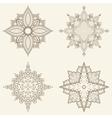 Set of four mandalas Beautiful hand drawn flowers vector image