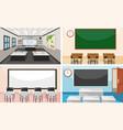 set of modern classroom vector image