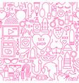 sex shop line seamless pattern vector image