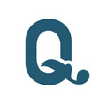 sign letter q vector image