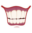smile icon happy image mouth with healthy vector image vector image