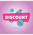 Special discount advertisement promo banner vector image