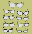 spectacle glasses and sunglasses vector image vector image
