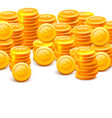stacks of coins on the white background vector image vector image
